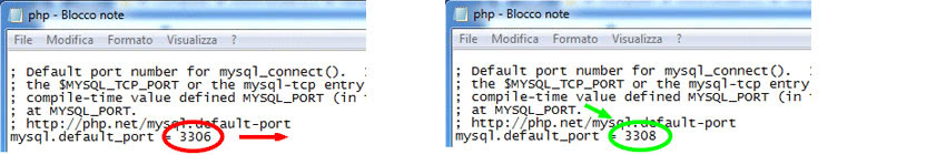 prima modifica al file php.ini